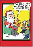 JerkingオフクリスマスJoke用紙カード 12 Christmas Card Pack (SKU:B5861)