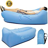 Inflatable Lounger Lounge Hangoutソファ – blinbling 2017アップグレードInflatable Pool Lounger Including 2つSideバッグとan extra旅行バッグ、for laying on the lawn、プール、ビーチまたは湖