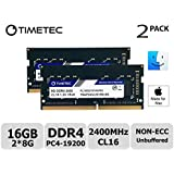 Timetec Hynix IC MAC用 16GB(2x8GB) DDR4 2400MHz PC4-19200 SODIMM Apple専用増設メモリ 永久保証(16GB(2x8GB))