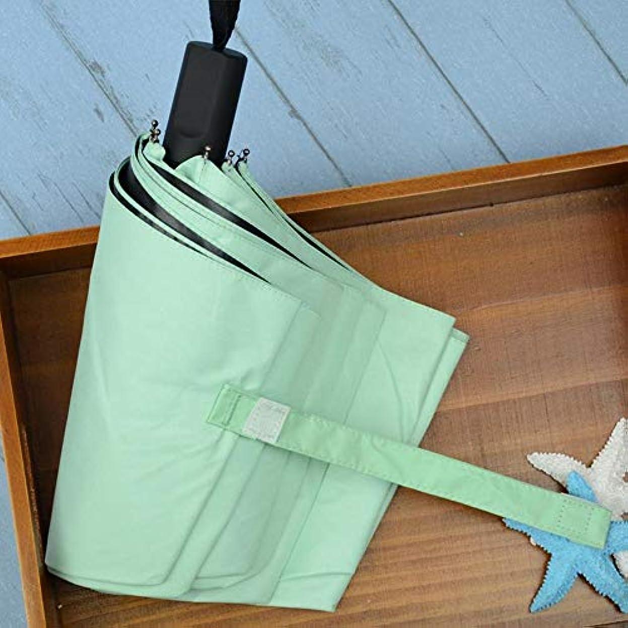 実施する上下する接辞Chuangshengnet 傘日当たりの良い傘折りたたみ傘無地UV保護ビニール傘 (Color : ピンク)