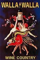 レディースDancing withワイン–ワラワラ、ワシントン州 9 x 12 Art Print LANT-43646-9x12