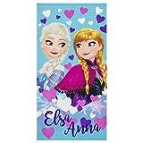 ディズニー アナと雪の女王 エルサとアナ 子供用ビーチタオル 70 x 140cm 70 X 140 cm ブルー ER4354/2