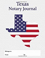 Texas Notary Journal: A Professional Notary Logbook With Large Writing Areas