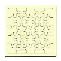 色紙 パズル スクエア型 【イエロー】 無地パズル メッセージパズル 寄書き用 ラージピース