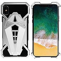 Jiaoran スマートフォン保護電話ハードフルボディアンチスクラッチバックカバーケースIPHONE X /アップル10 (Color : Silver, サイズ : IPhoneX/XS)