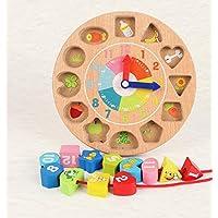 chusea面白い子供おもちゃ木製Shape Sorter幾何Sorting Clock教育形状色認識Toy for Kids