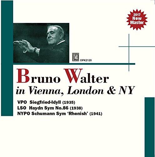 ワーグナー : ジークフリート牧歌 | ハイドン : 交響曲 第86番 | シューマン : 交響曲 第3番 「ライン」 (Bruno Walter in Vienna, London & NY ~ Wagner : Siegfried-ldyll (1935) | Haydn : Symphony No.86 (1938) | Schumann : Sym 'Rhenish' (1941) / Bruno Walter | VPO | LSO | NYPO) [CD]