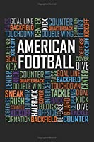 American Football Words: 6x9 Ruled Notebook, Journal, Daily Diary, Organizer, Planner