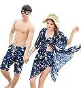 (レモンツリーセブン) Lemon tree7 カップル 水着 ペアルック レディース ビキニ 3点セット体型カバー メンズ サーフパンツ スイムウエア ペア水着 お揃え ペアビーチ ご夫婦 ミズギ 男女4点セット