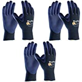3 Pack MaxiFlex® Elite™ 34-274 Ultra Light Weight Glove with Nitrile Coated Grip on Palm & Fingers, Sizes S-XL (Extra Large)