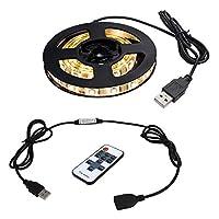 【RFリモコン付き】 USB 防水LEDテープライト 1チップ 昼白色(白ベース) 100cm + RF調光器 DC5V
