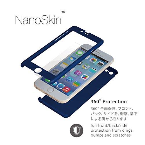 ZENDO NanoSkin ゼンドーナノスキン iPhone 6s Plus / 6 Plus(5.5インチ)アイフォンフルカバーケース ブルー ※ 硬度9H 液晶保護ガラスフィルム1枚付き