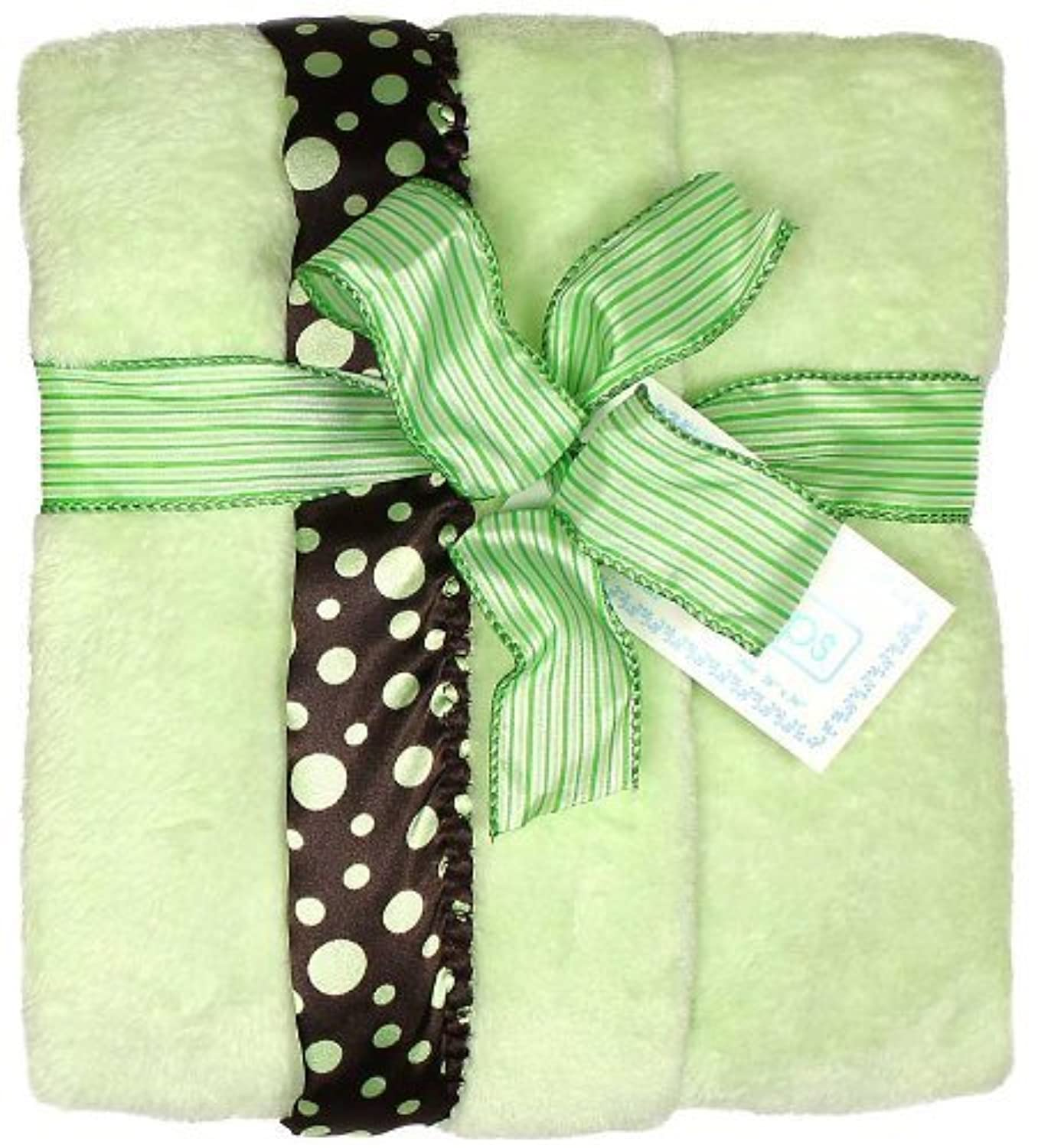 Raindrops Flurr Receiving Blanket, Brown with Sage Dots by Raindrops [並行輸入品]