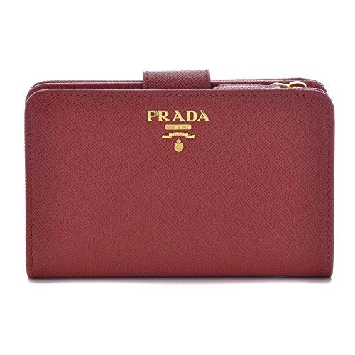 PRADA(プラダ) 型押しカーフスキン 二つ折り財布 1M...