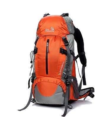 (アウトランダー)OUTLANDER レインカバー付き登山用リュック 50L オレンジ