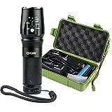 CVLIFE LEDポータブル懐中電灯 CREE XM-L T6 1000ルーメン ズーム機能付き 単四電池・18650・26650対応