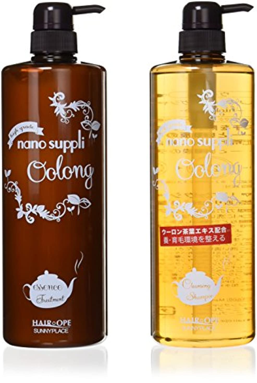 化学ばかげている着る2点セット サニープレイス ナノサプリ クレンジングシャンプー&コンディショナー ウーロン 1000ml ボトルセット