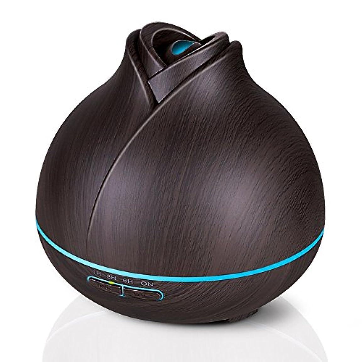 400ミリリットル木目調アロマセラピーディフューザーエッセンシャルオイル用2ミストモード4タイマー設定、静かな加湿器用寝室、ホーム、オフィス,deepgrain