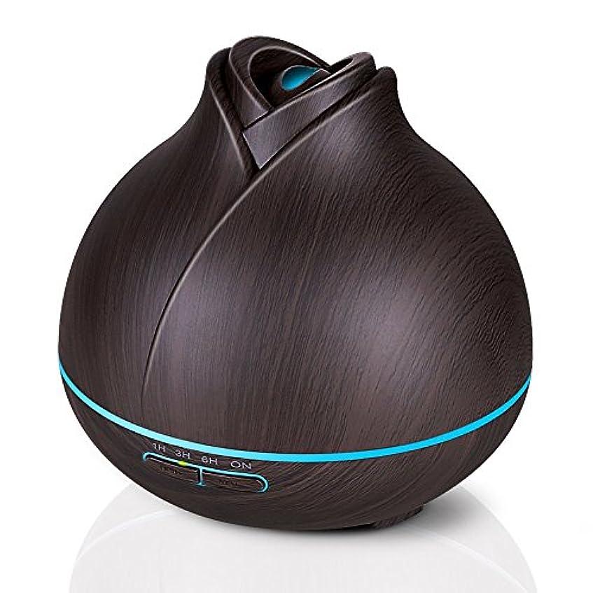 体現する劇的スマイル400ミリリットル木目調アロマセラピーディフューザーエッセンシャルオイル用2ミストモード4タイマー設定、静かな加湿器用寝室、ホーム、オフィス,deepgrain