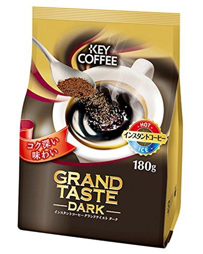 キーコーヒー インスタントコーヒー グランドテイスト ダーク(180g)