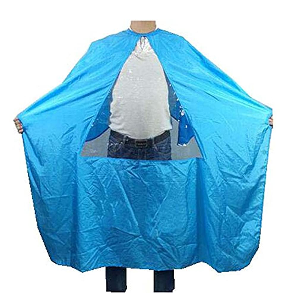 ファシズムベアリングサークル風変わりなヘアビューティーサロンクライアントガウントライアングルタンペアレント、ブルーの防水着色染料ケープスモック