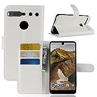 AIYOPEEN ESSENTIAL PHONE PH-1 専用 PU レザー ケース 手帳型 カバー カード収納 ケース(ホワイト)