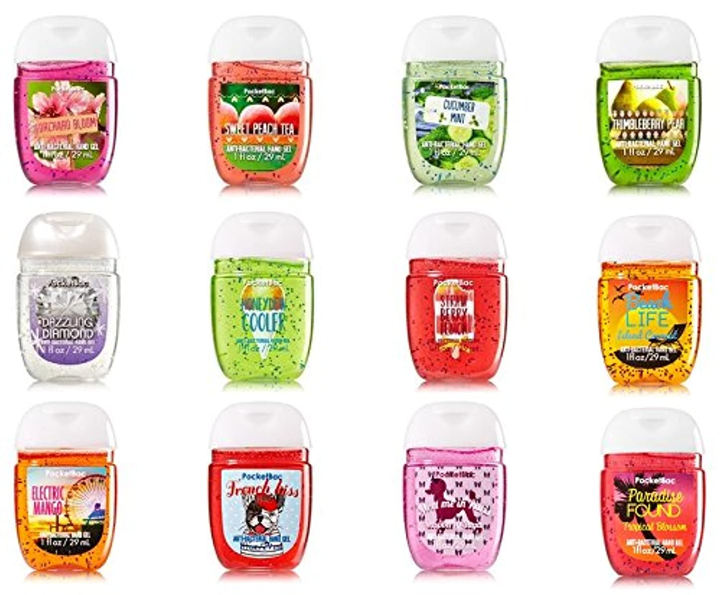 金属議会サイズ【アメリカ直送】Bath & Body Works Pocketbac Variety 12pk  バス&ボディワークス 水のいらない消毒ジェル 抗菌ハンドジェル 12個セット 各29ml