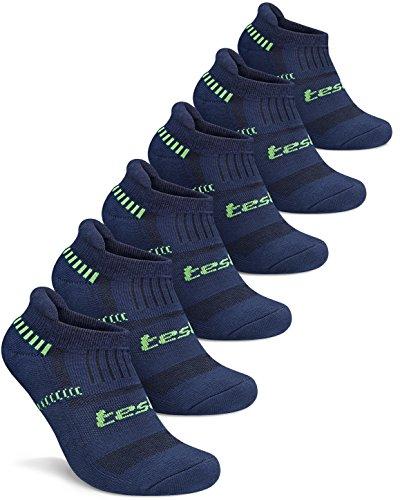 MZS04-NVY-L(テスラ)TESLA ソックス 靴下[抗菌防臭・吸汗速乾] ショートレングス 6足組 [ユニセックス]