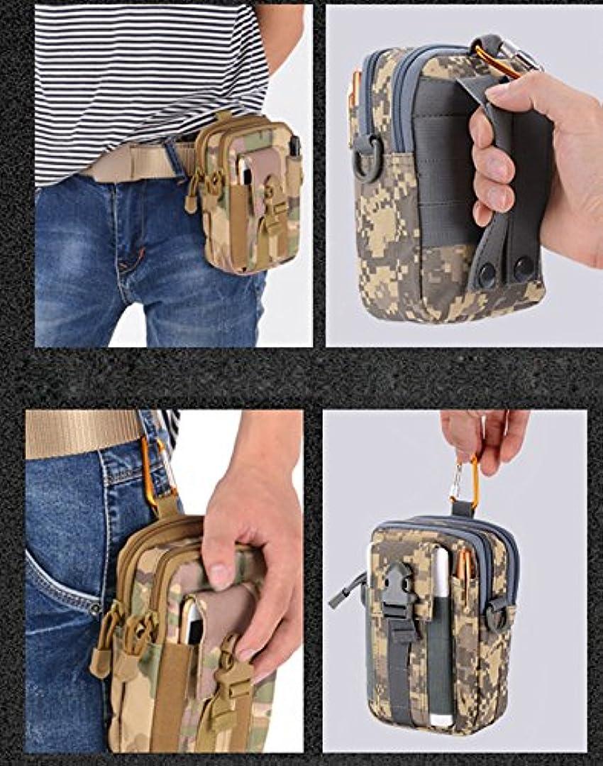 効能独占翻訳するMen Tactical Molle Pouch Belt Waist Pack Bag Small Pocket Military Waist Pack Running Pouch Travel Camping Bags Soft back