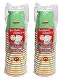 断熱加工の紙コップ ストロングカップ 250ml (20個組) ×2袋セット