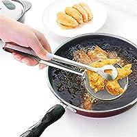28 * 10cmステンレスメッシュフードトングストレーナーキッチンコランダーフィルターフライドフードスクープオイルストレーナークリップホームクッキングツール