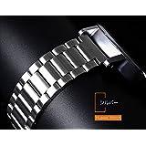 Huawei Watch用 交換バンド 高級ステンレス ベルト For Huawei Watch 交換リストバンドWATCH-W84-T51207 (シルバー)