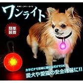 【 安心 安全 】 光る LED 首 輪 ネックレス 犬 猫 兼 用 カラビナ 式 かわいい おしゃれ 事故 迷子 防止 カラー ランダム 【I.T outlet】 MI-OINU