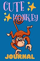 Cute Monkey Journal: Great Gift For Animal Lovers, Lined Pages Notebook For Kids, Perfect For School Or Work