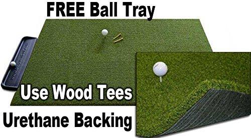 4x 5ゴリラPerfect Reactionゴルフマット。使用Real Wood Tees。At Last aゴルフマットwith No衝撃、NO BOUNCE noゴムTees必要です。フリーボールトレイ。ゴリラバックアップウレタンゴルフマット。