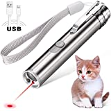 [2019 Upgrade] BYETOO Laser Pointer for Cats/Dogs,3-in-1 USB Rechargeable,Cat Dog Interactive Lazer Toy,Pet Training Exercise Chaser Tool,3 Mode - Red Light LED Flashlight UV Light,USB Cable Included