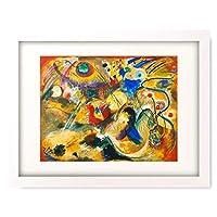 """ワシリー・カンディンスキー Wassily Kandinsky Vassily Kandinsky 「On the topic of""""The Deluge"""". 1914.」 額装アート作品"""