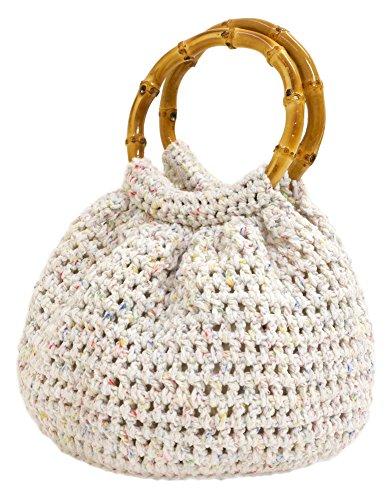 NASKA 編み物キット バンブー持ち手のかぎ針編みバッグ ...