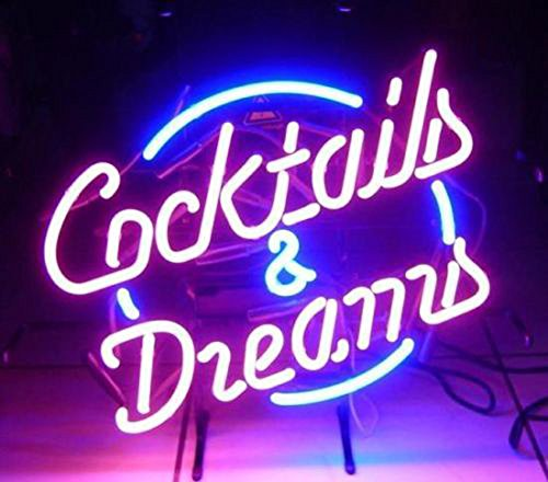 LiQi【COCKTAILS AND DREAMS】ネオン 看板 NEON SIGN (縦35cmX横45cm)