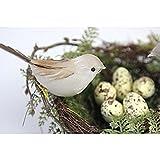 【ノーブランド品】 1個鳥の巣 2個人工鳥 5個黄色の鳥の卵 セット 飾り物