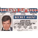 License to Kill - James Bond - Roger Moore Novelty ID Card by Signs 4 Fun [並行輸入品]