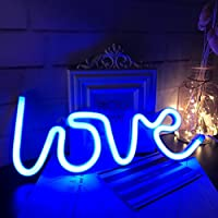 Neon Love Signs Art Decorative Lights for Children's room Night Lamp,or for Birthday Party/Holiday/Wedding Decoration (blue)