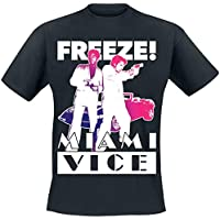 Miami Vice Officially Licensed Freeze T-Shirt (Black)