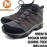 メレル メンズ モアブミッドゴアテックス ベルーガ MERRELL MEN'S MOAB MID GORE-TEX BELUGA J87313 男性用 トレッキングシューズ 登山用