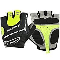 Good Quality Bike Gloves Cycling Gloves With 5mm Gel Pad From INBIKE-BlackGreen-S [並行輸入品]