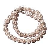 【AFP】淡水本真珠 ネックレス バロック 大粒 ホワイト 約40cm 77ne-bl09w
