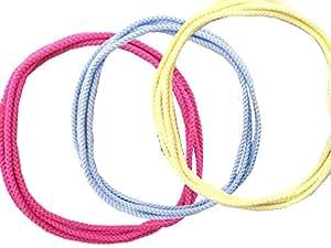 あやとりひも(ノーマルタイプ) 3本セット 子供用 (ピンク/水色/クリーム) 140cm ゆうパケット便 結び目のない輪 あやとり専用 アクリル 森製紐(もりせいちゅう) オリジナル