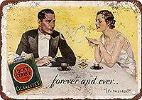 S-RONG雑貨屋の壁の精神芸術の装飾の金属の印の幸運なストライキのタバコ20x30cm