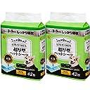【Amazon.co.jp限定】 アイリスオーヤマ 超厚型 ペットシーツ ワイド 42枚入×2個(まとめ買い)