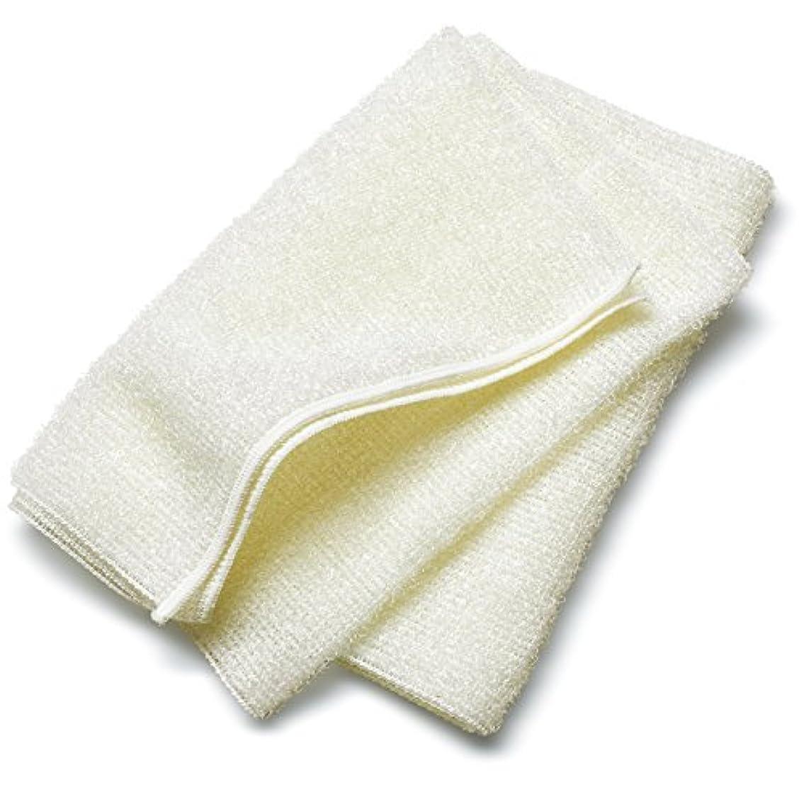 付き添い人洗う裂け目ブルーム なめらかホイップ ボディタオル (アイボリー) [M] とうもろこし繊維 弱酸性 泡立ちなめらか やわらかめ 日本製